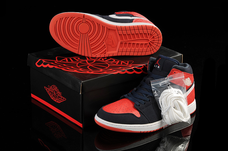 New Arrival Jordan 1 Dark Red White Shoes