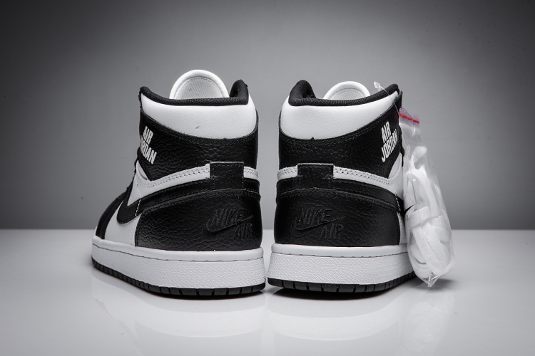 New Air Jordan 1 Disppearing Wing Black White Shoes