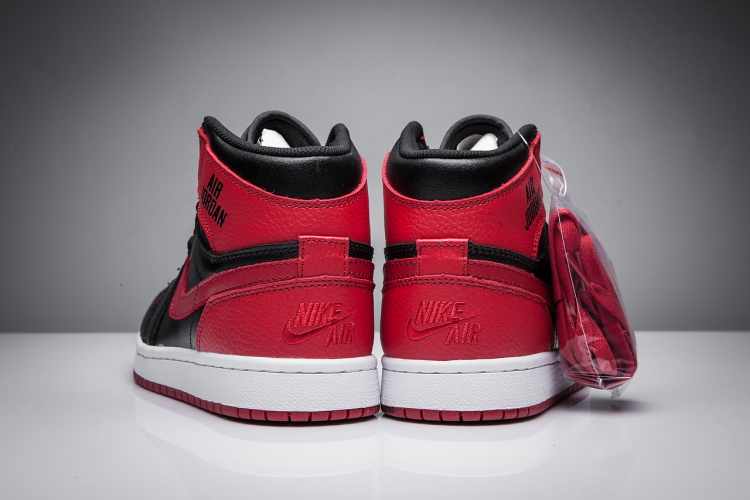 New Air Jordan 1 Disppearing Wing Red Black Shoes