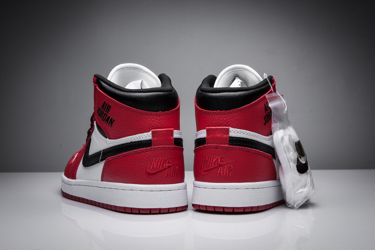 New Air Jordan 1 Disppearing Wing Red White Black Shoes