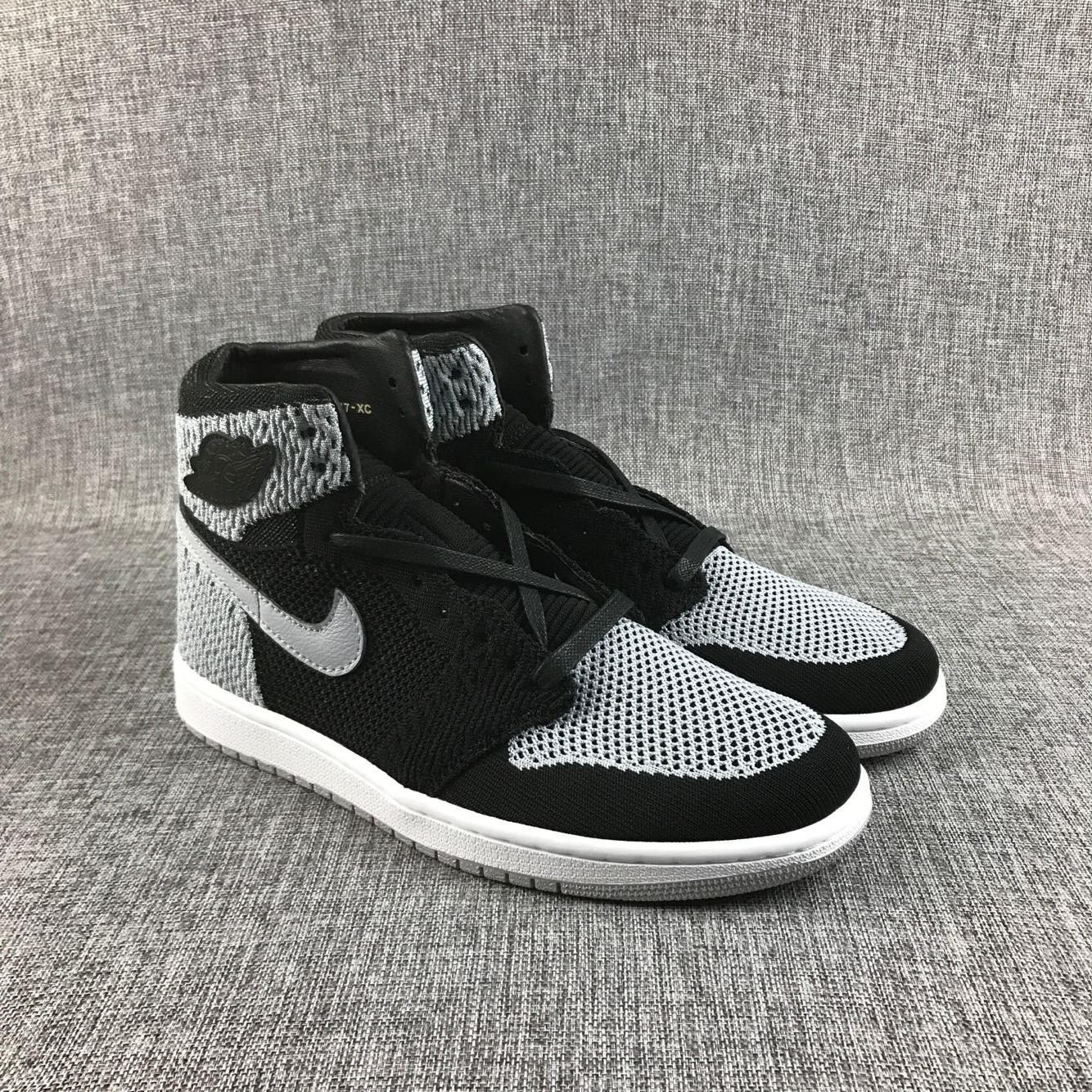 New Air Jordan 1 Flyknit Black Grey Shoes