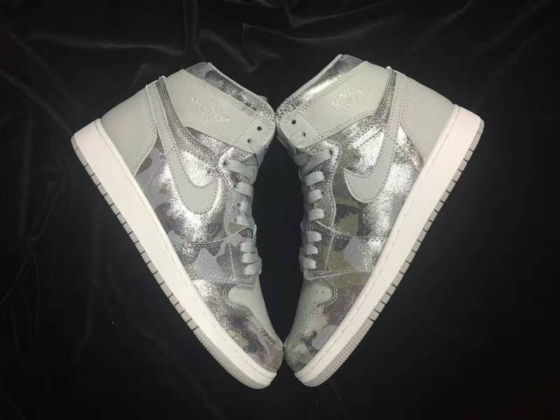New Air Jordan 1 GS All Star Silver Grey Shoes