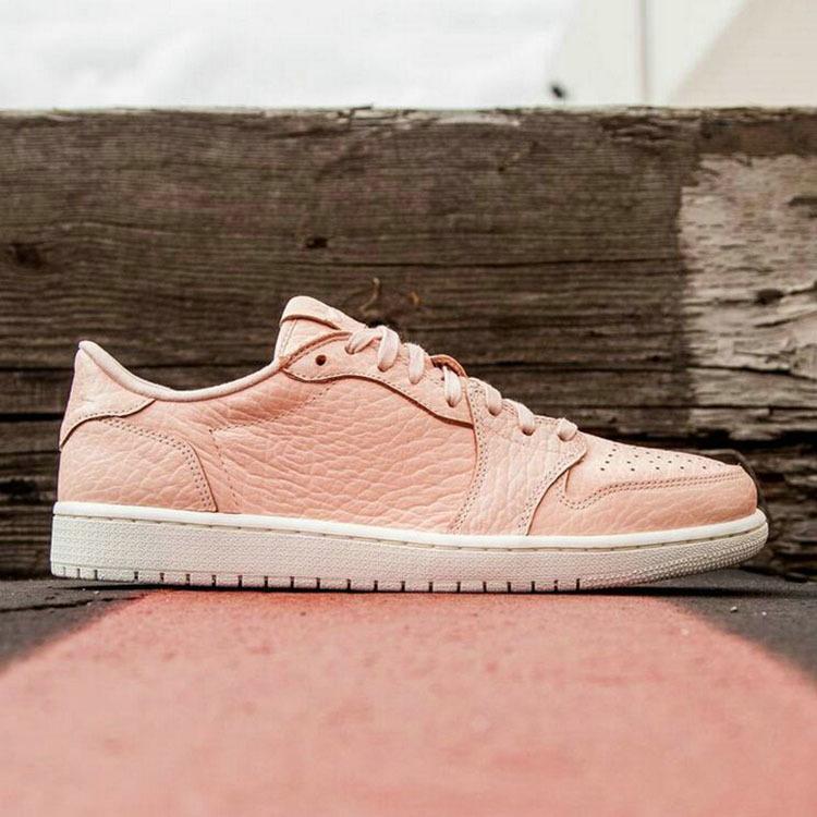 New Air Jordan 1 GS Low Pink White Shoes