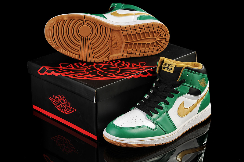 New Arrival Jordan 1 Green White Shoes