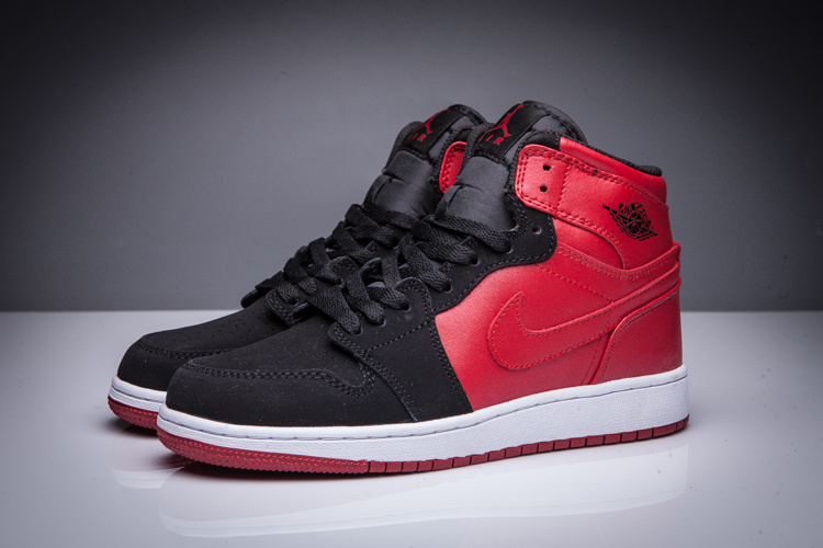 New Air Jordan 1 High Black Red Shoes