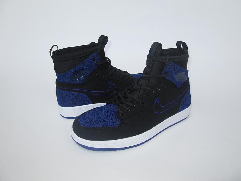 New Air Jordan 1 Knitted Socks Shoes Black Blue