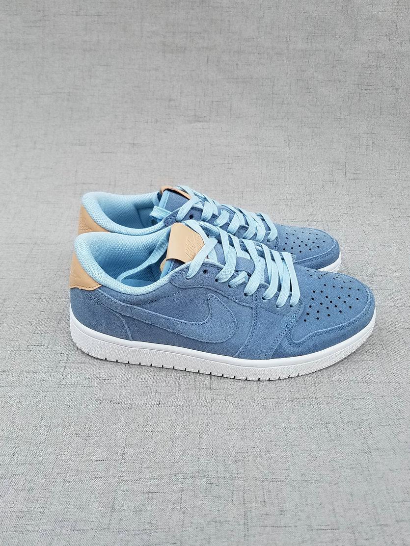 New Air Jordan 1 Low Ice Blue Brown Shoes