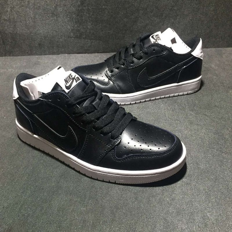New Air Jordan 1 Low Oreo Black Shoes