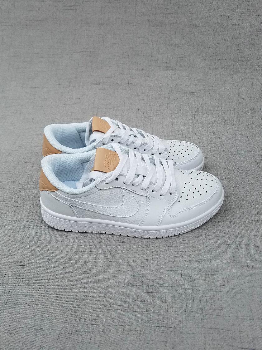 New Air Jordan 1 Low White Brown Shoes