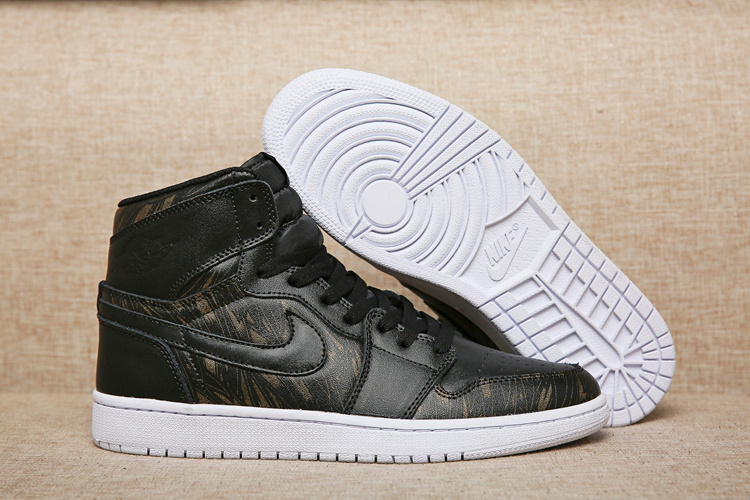 New Air Jordan 1 Medal Gold Black Shoes