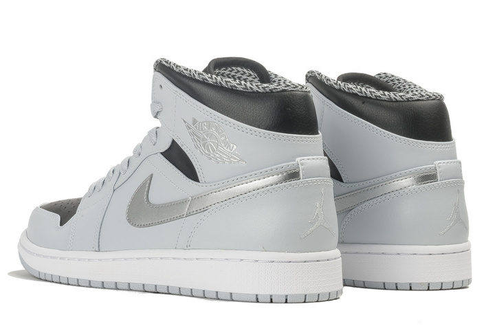 New Air Jordan 1 Mid Wolf Grey GS Shoes