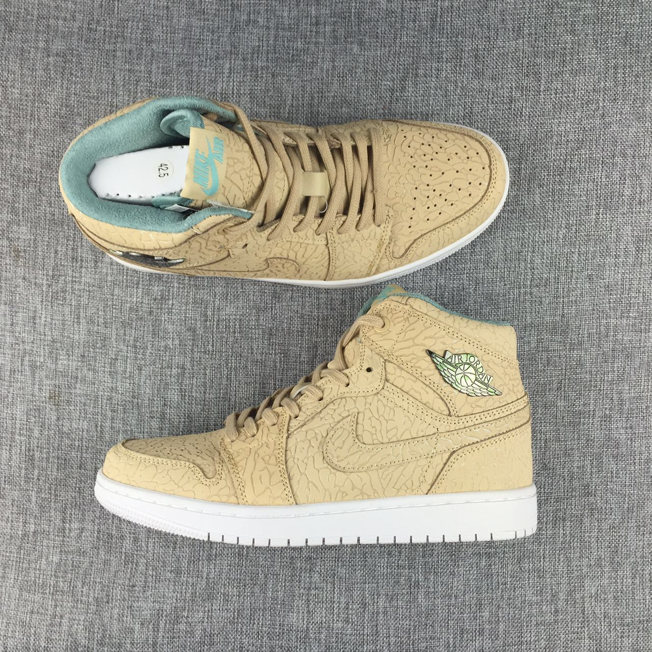New Air Jordan 1 Pearl Yellow Shoes