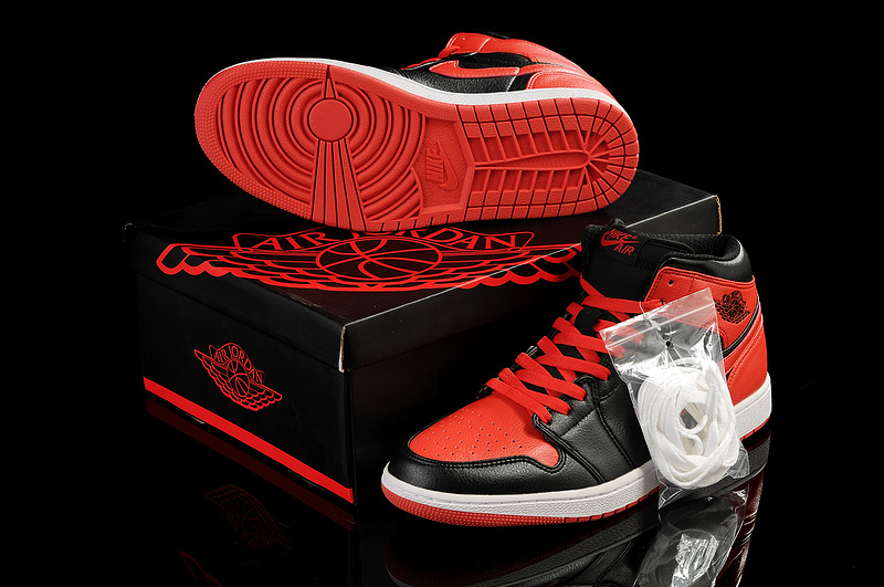 New Air Jordan 1 Red Black White Shoes