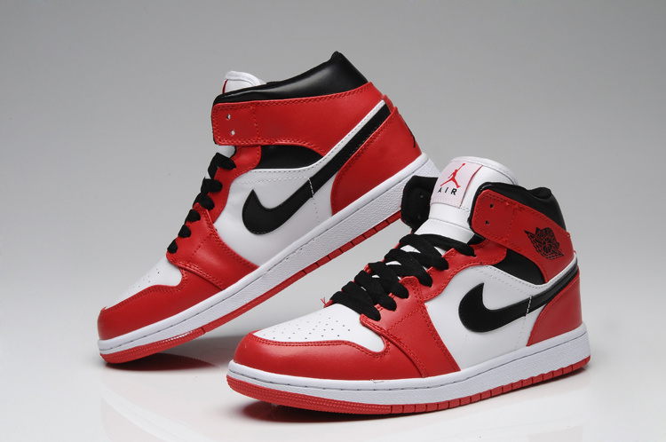New Air Jordan 1 Red White Shoes