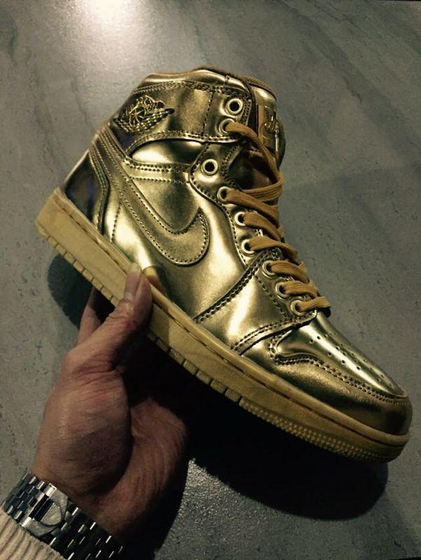 New Air Jordan 1 Retro All Gold Shoes