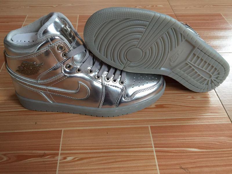 New Air Jordan 1 Retro All Silver Shoes