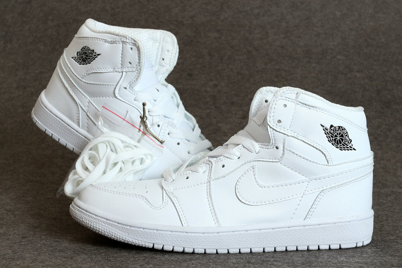 New Air Jordan 1 Retro All White Shoes