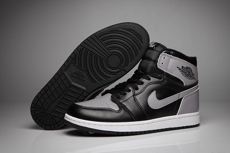 New Air Jordan 1 Retro Black Grey White Shoes