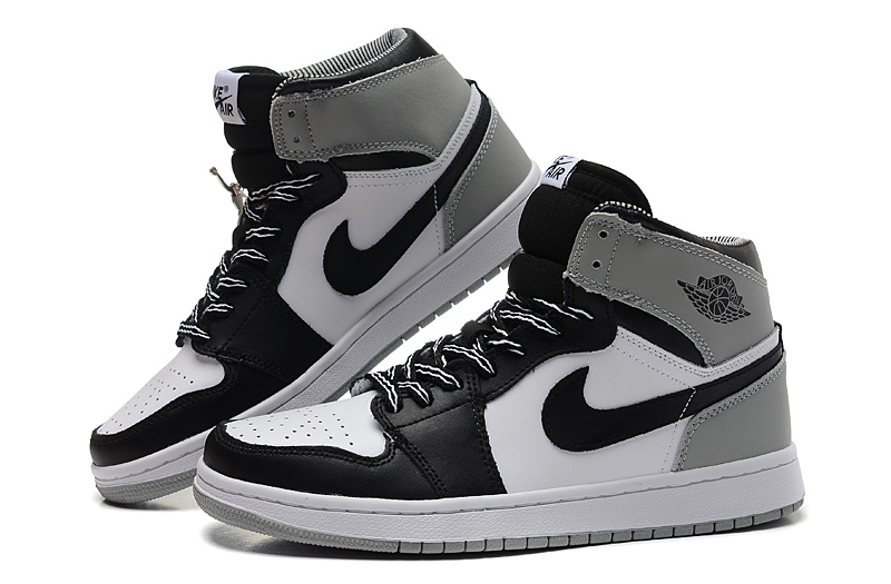 New Air Jordan 1 Retro Black White Grey Shoes