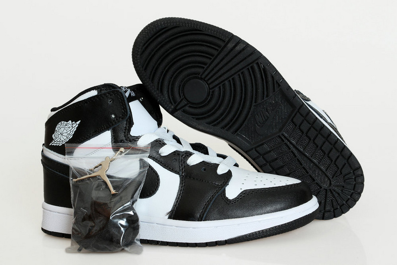 New Air Jordan 1 Retro Black White Shoes