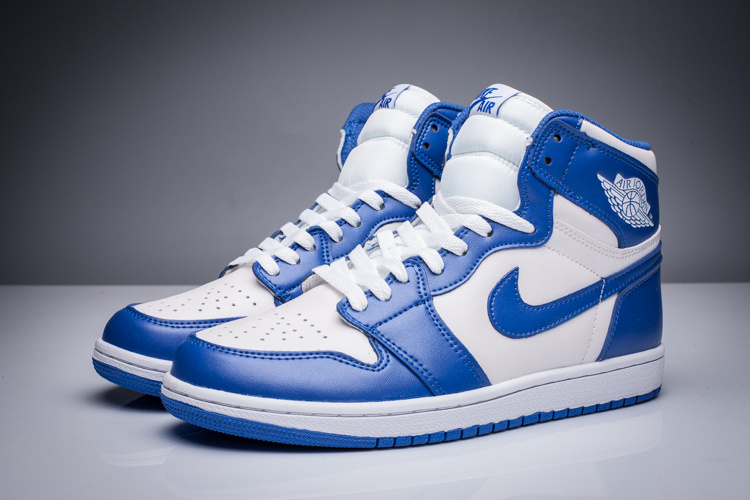 New Air Jordan 1 Retro White Blue Shoes