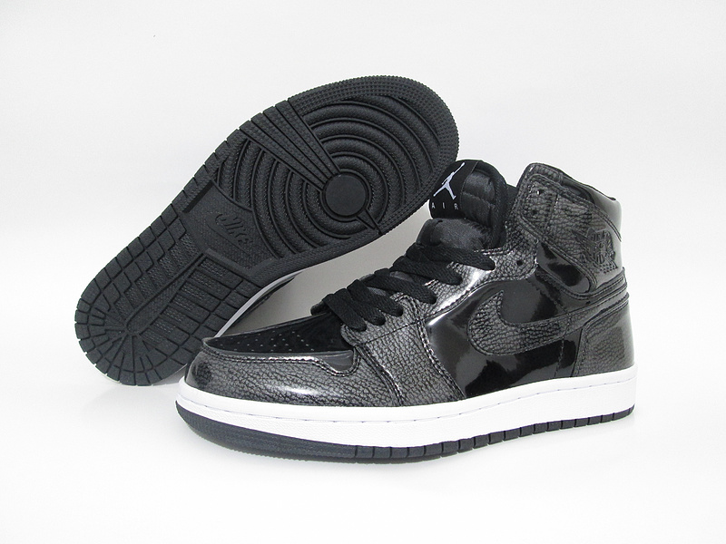 New Air Jordan 1 Slam Dunk Black White Shoes