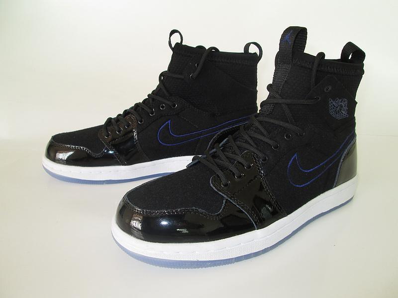 New Air Jordan 1 Slam Dunk Knitted Socks Shoes All Black