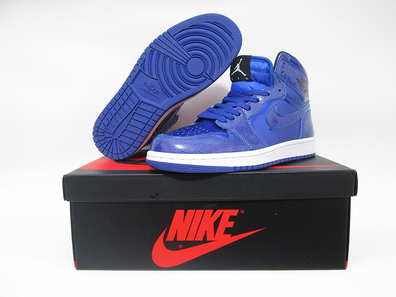 New Air Jordan 1 Slam Dunk Shine Blue White Shoes