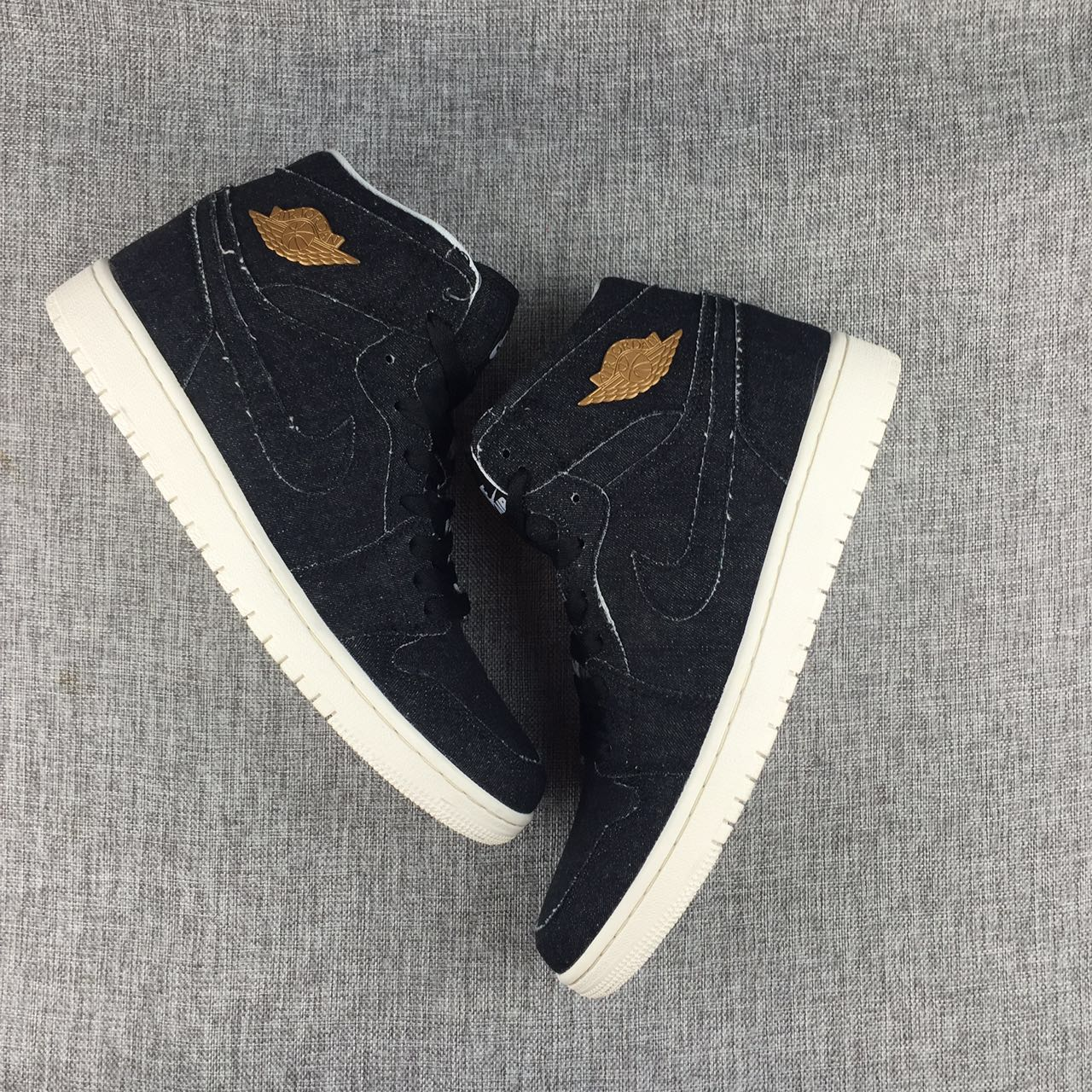 New Air Jordan 1 Tannin Black Gold Shoes
