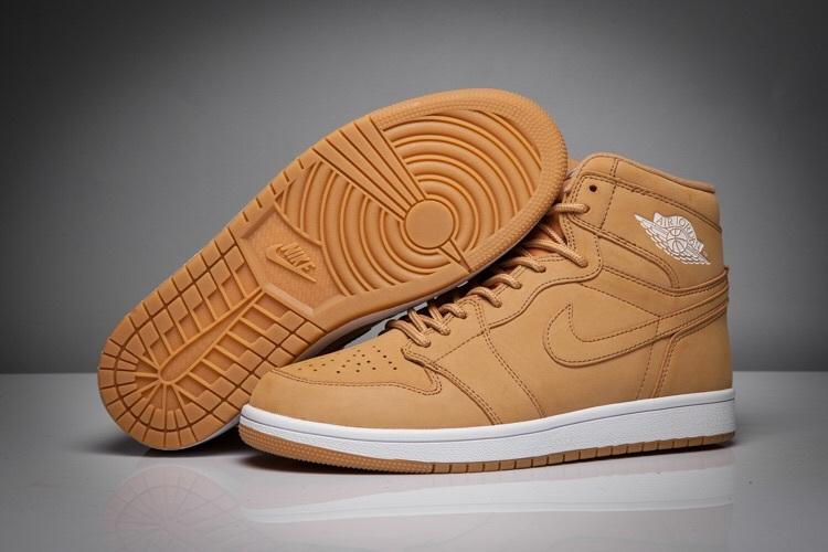 New Air Jordan 1 Wheat White Shoes