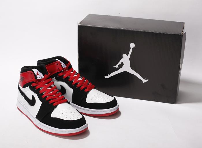 Air Jordan Retro 1 White Black Red