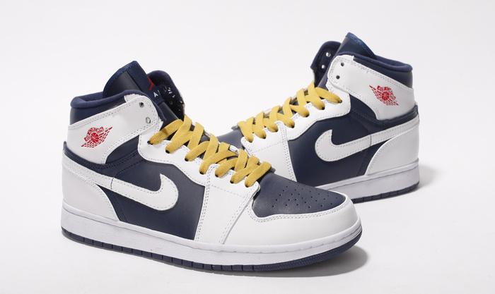 Air Jordan Retro 1 White Blue Yellow