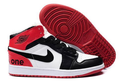 Air Jordan Retro 1 White Red Black