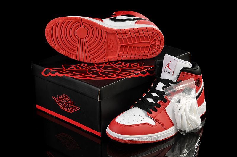 New Arrival Jordan 1 White Red Shoes