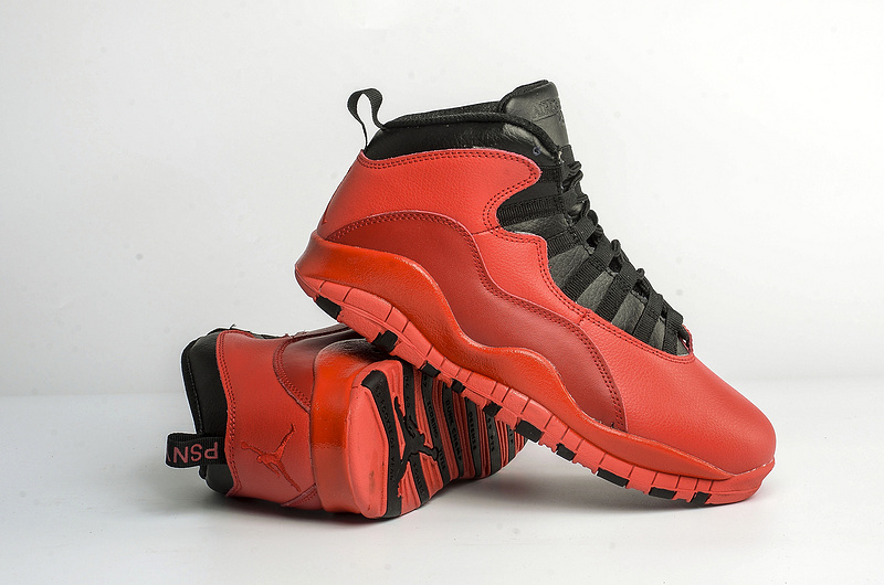 New Air Jordan 10 Hot Red Black Shoes