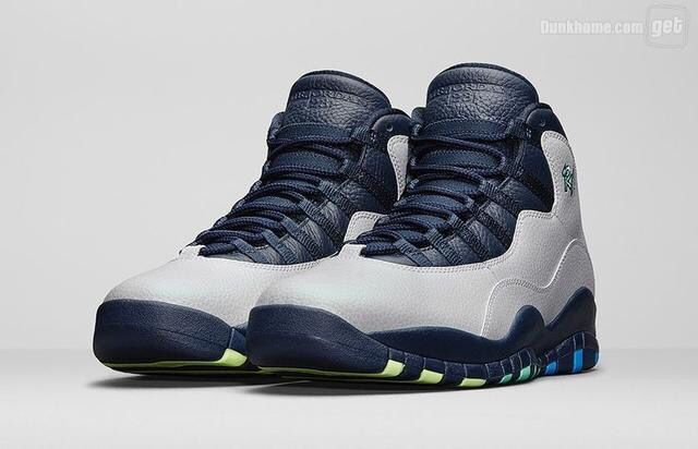 New Air Jordan 10 Rio Grey Blue Shoes