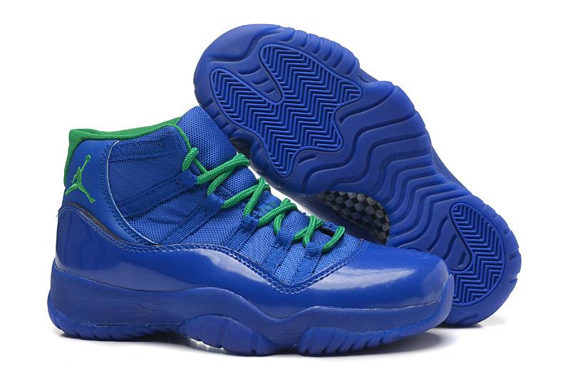 New Air Jordan 11 All Blue For Women