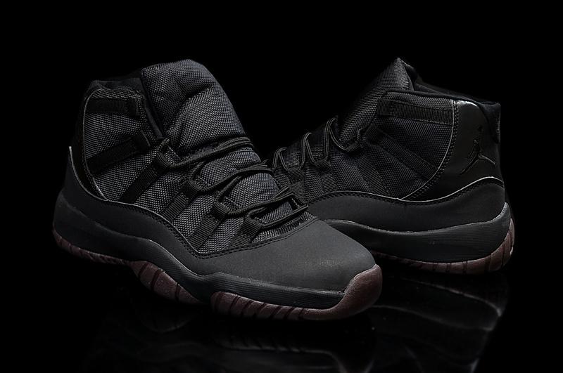New Original Air Jordan 11 High All Black Coffe Shoes