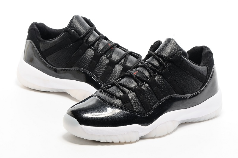 New Air Jordan 11 Low 72 11 Black White Red Shoes