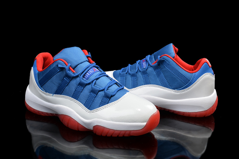 jordan shoes 11. new original air jordan 11 low blue white red shoes