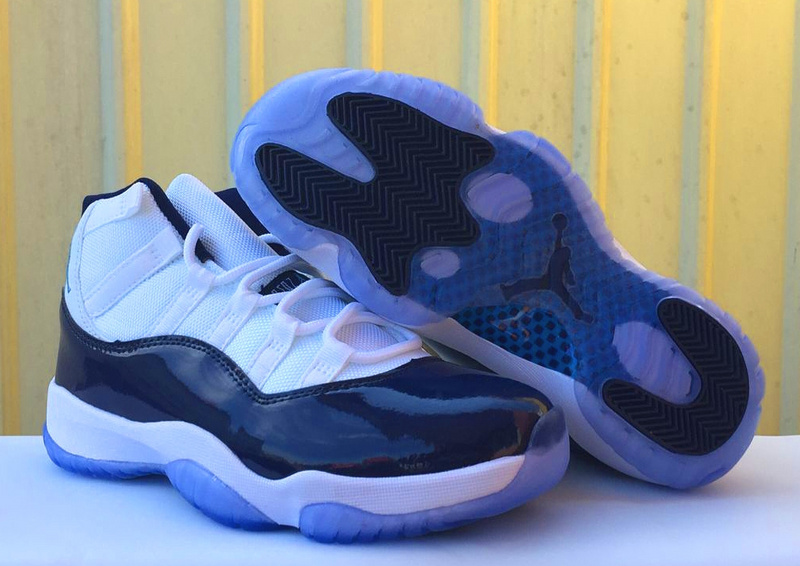 New Air Jordan 11 North Carnolina White Blue Shoes