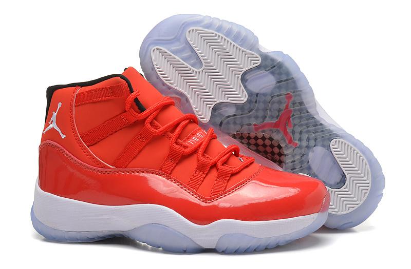 New Air Jordan 11 Red White For Women