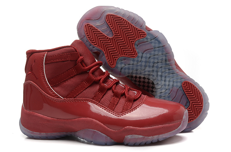 new air jordan 11 retro all red for women waj002 72