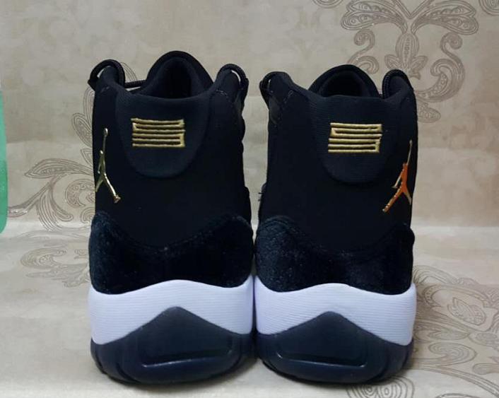 jordan shoes 11 white gold. new air jordan 11 retro goose velvet black white gold shoes s
