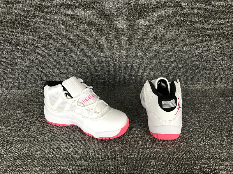 New Air Jordan 11 Retro White Red Shoes For Kids
