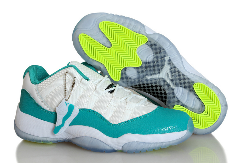 New Air Jordan 11 Snakeskin White Blue For Women