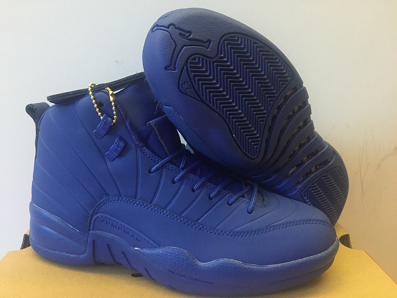New Air Jordan 12 PNSY All Blue Shoes