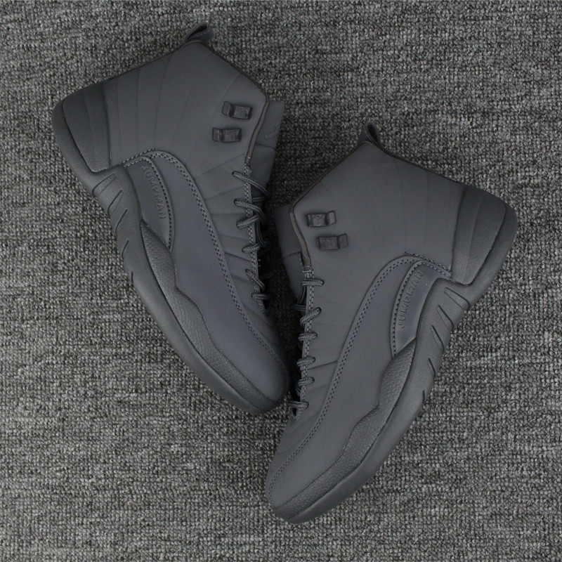 New Air Jordan 12 All Grey Shoes