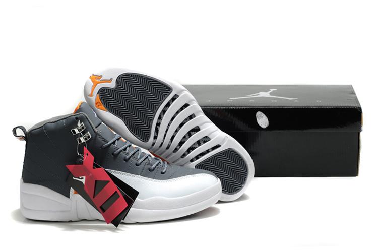 Latest Air Jordan 12 Black White Orange