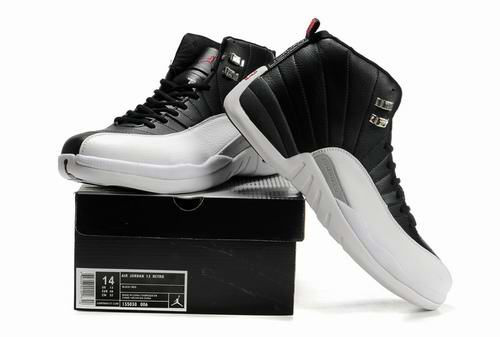Latest Air Jordan 12 Black White